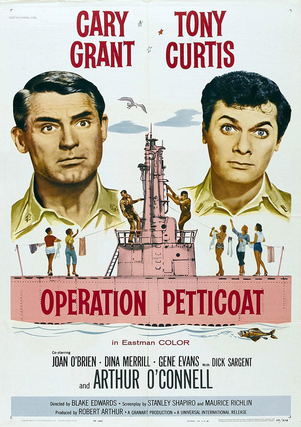"Affiche du film ""Opération jupons"" (Operation Petticoat) 1959"