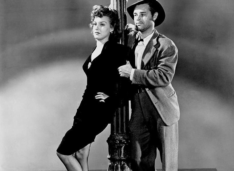 DETOUR, Tom Neal, Ann Savage, 1945
