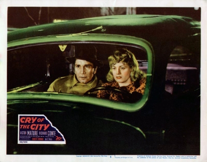 CRY OF THE CITY (Robert Siodmak, 1948) -Photo d'exploitation