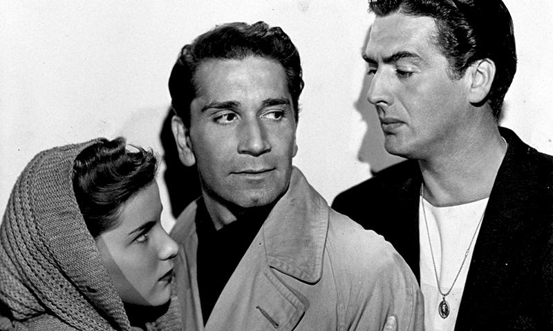 CRY OF THE CITY (Robert Siodmak, 1948) - Debra Paget, Richard Conte et Victor Mature