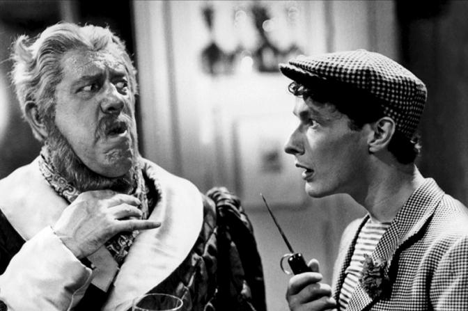 """Michel Simon et Jean-Louis Barrault dans """"Drôle de drame"""" de Marcel Carné (1937) - Photographie : Eugen Schüfftan, Louis Page, Henri Alekan"""