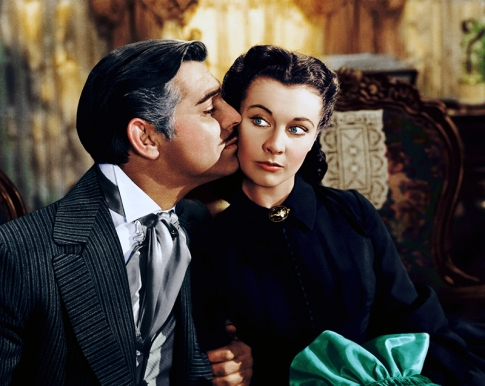 Clark Gable et Vivien Leigh dans GONE WITH THE WIND (1939)