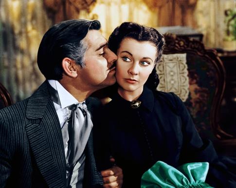 Clark Gable et Vivien Leigh dans GONE WITH THE WIND (1939)