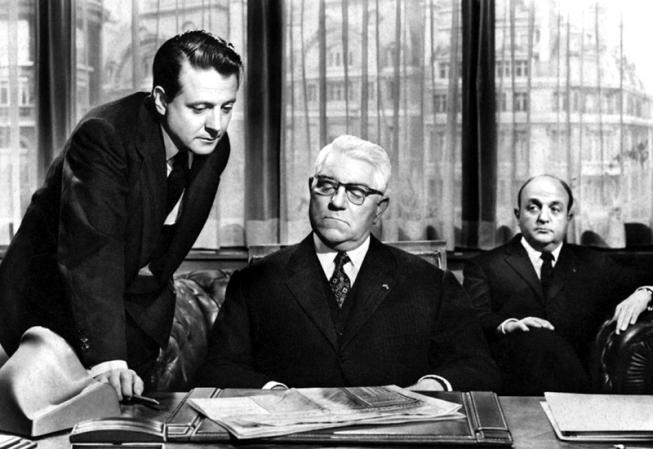 Jean Gabin, Bernard Blier et Jean Desailly dans Les Grandes familles (Denys de La Patellière, 1958)