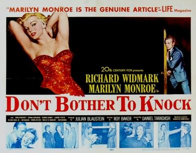Affiche original : DON'T BOTHER TO KNOCK (Troublez-moi ce soir) – Roy Baker (1952)