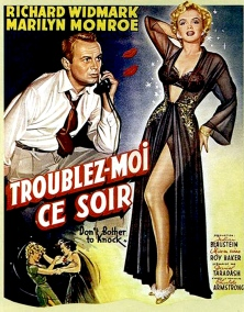 Affiche original : DON'T BOTHER TO KNOCK (Troublez-moi ce soir) – Roy Baker (1952)