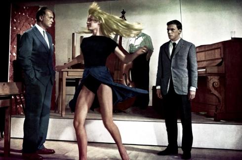 """Et Dieu... créa la femme"" de Roger Vadim (1956), avec Brigitte Bardot, Curd Jürgens, Jean-Louis Trintignant."