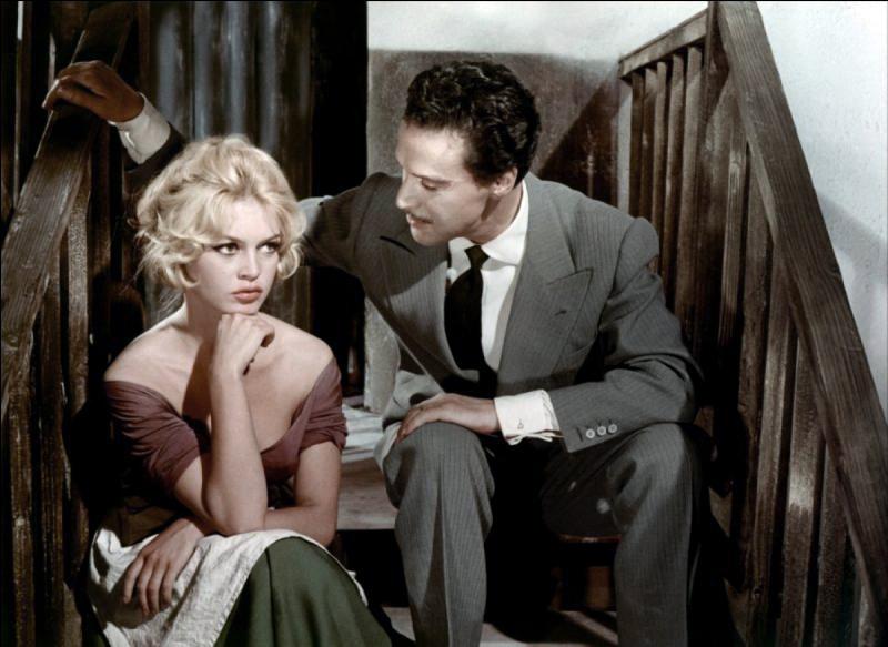 """""""La Femme et le pantin"""" de Julien Duvivier (1959) avec Brigitte Bardot, Antonio Vilar, Lila Kedrova, Jacques Mauclair, Michel Roux"""