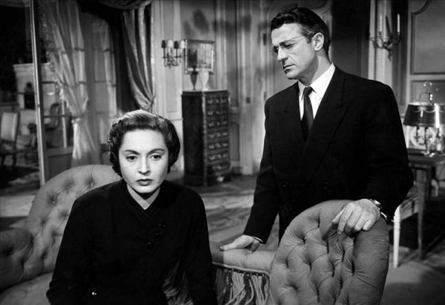 """""""Le Dossier noir"""" d'André Cayatte (1955) avec Antoine Balpêtré, Lea Padovani, Bernard Blier, Nelly Borgeaud, Danièle Delorme"""