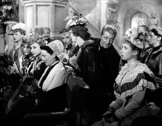 """""""Le Plaisir"""" de Max Ophüls (1952) avec Danièle Darrieux, Jean Gabin, Madeleine Renaud, Ginette Leclerc, Mila Parely, Pierre Brasseur (La Maison Tellier)"""