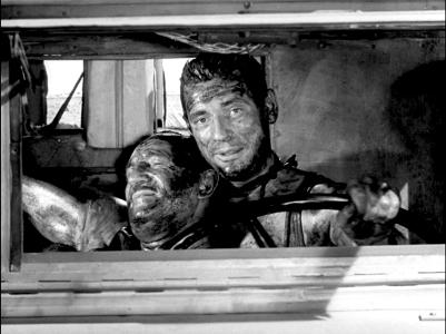 """""""Le Salaire de la peur"""" d'Henri-Georges Clouzot (1953) avec Yves Montand, Charles Vanel, Peter van Eyck, Folco Lulli, Véra Clouzot"""