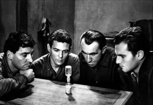 """Le Trou"" de Jacques Becker (1960) avec Philippe Leroy-Beaulieu, Marc Michel, Jean Keraudy, Michel Constantin, Raymond Meunier"