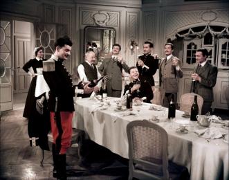 """""""Les Grandes Manœuvres"""" de René Clair (1955) avec Gérard Philipe, Michèle Morgan, Jean Desailly, Pierre Dux"""
