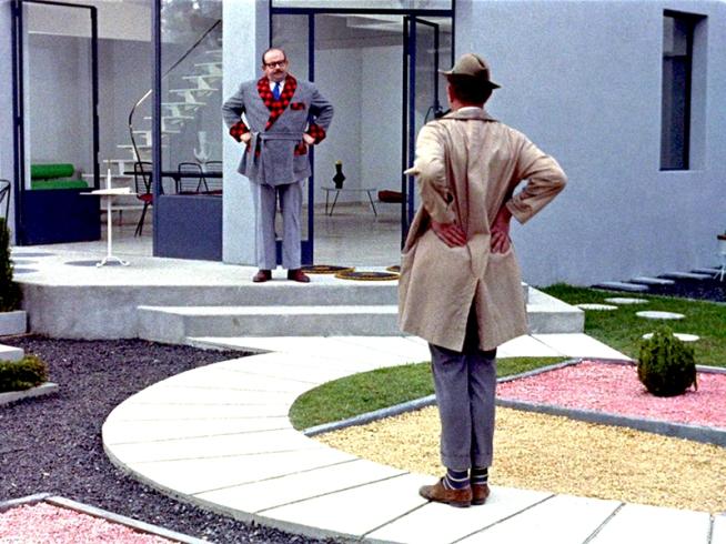 """""""Mon Oncle"""" de Jacques Tati (1958) avec Jean-Pierre Zola, Adrienne Servantie, Alain Bécourt"""