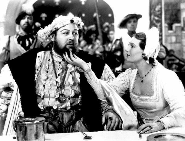 Charles Laughton et Merle Oberon dans La Vie privée d'Henry VIII réalisé par Alexander Korda (1933)