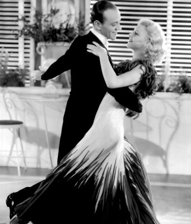 Fred Astaire et Ginger Rogers dans La Joyeuse Divorcée (The Gay Divorcee) de Mark Sandric (1934)