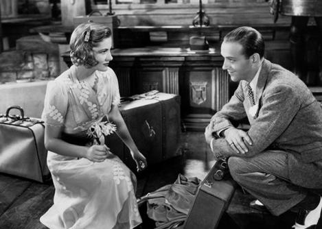 Demoiselle en détresse (A Damsel in Distress) de George Stevens, inspiré du roman de P.G. Wodehouse avec Fred Astaire, Joan Fontaine, Gracie Allen et George Burns, sorti le 19 novembre (1937)