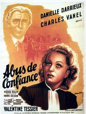ABUS DE CONFIANCE - Henri Decoin (1937) - Affiche du film