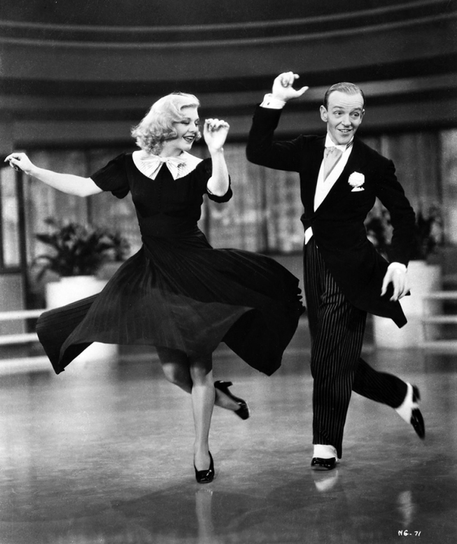 Fred Astaire et Ginger Rogers dans Sur les ailes de la danse (Swing time) de George Stevens (1936)