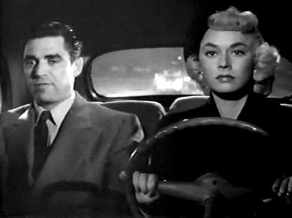 Scène des Amants du crime (Tomorrow Is Another Day, 1951 ) de Felix E. Feist L'ex-taulard Bill Clarck/Mike Lewis (Steve Cochran) tente de tirer un trait sur son passé mais se retrouve en cavale après avoir tué le nouvel amant de sa petite amie Catherine Higgins (Ruth Roman).