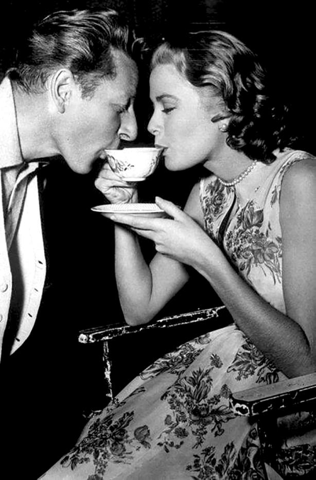 On set - HIGH SOCIETY - Charles Walters (1956) - Bing Crosby, Grace Kelly
