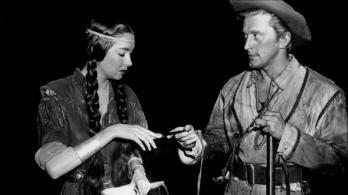Elizabeth Threatt et Kirk Douglas dans THE BIG SKY - Howard Hawks (1952)