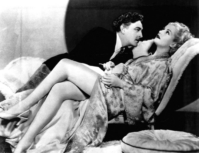 John Barrymore et Carole Lombard dans Twentieth Century (Train de luxe) - Howard Hawks (1934)