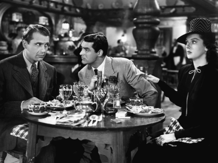 Cary Grant, Rosalind Russell et Ralph Bellamy dans His Girl Friday - Howard Hawks (1940)