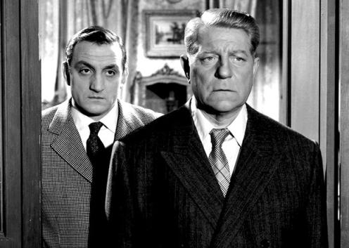 Lino Ventura et Jean Gabin dans le Rouge est mis (Gilles Grangier, 1957)