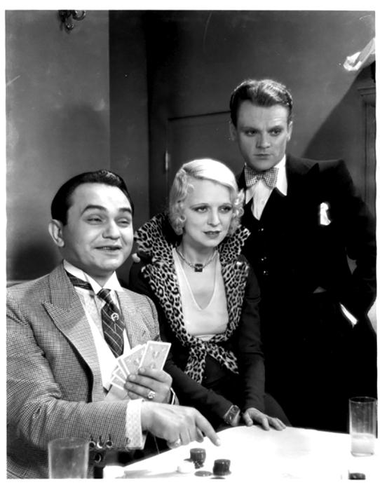 Edward G Robinson, Evalyn Knapp sic et James Cagney dans SMART MONEY de Alfred E. Green (1931)
