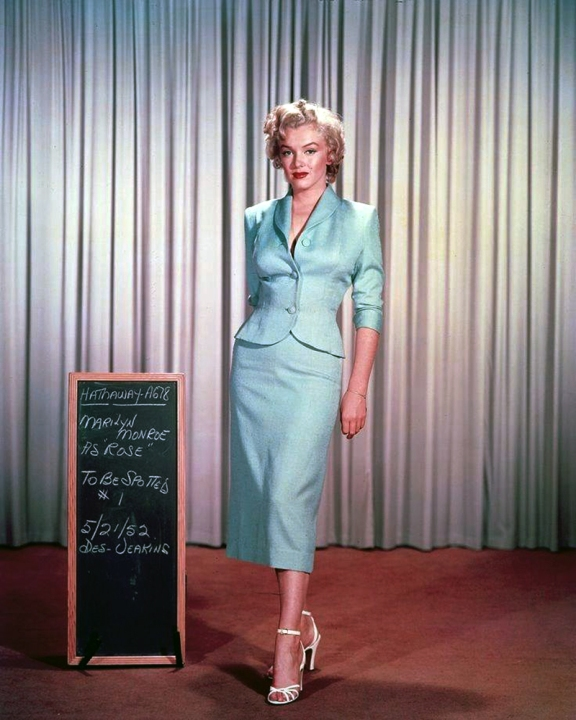 "Marilyn Monroe Wardrobe Tests for ""Niagara"""