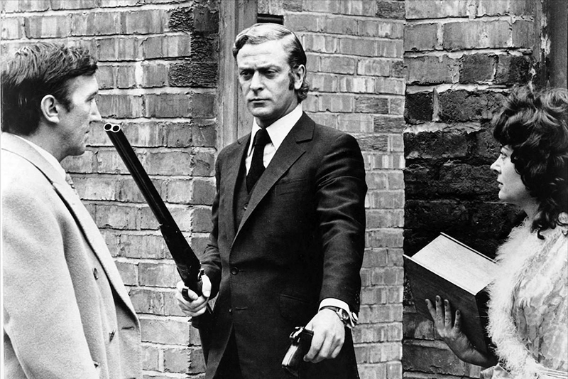 GET CARTER, from left: George Sewell, Michael Caine, Rosemarie Dunham, 1971