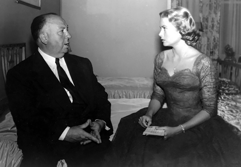 "ALFRED HITCHCOCK & GRACE KELLY ""DIAL M FOR MURDER"" (LE CRIME ETA"