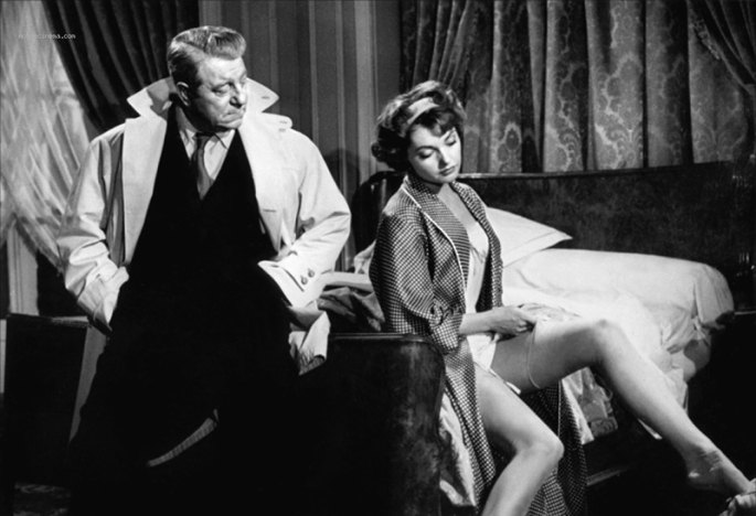 Jean Gabin et Nadja Tiller dans Le Désordre et la nuit (Gilles Grangier, 1958)