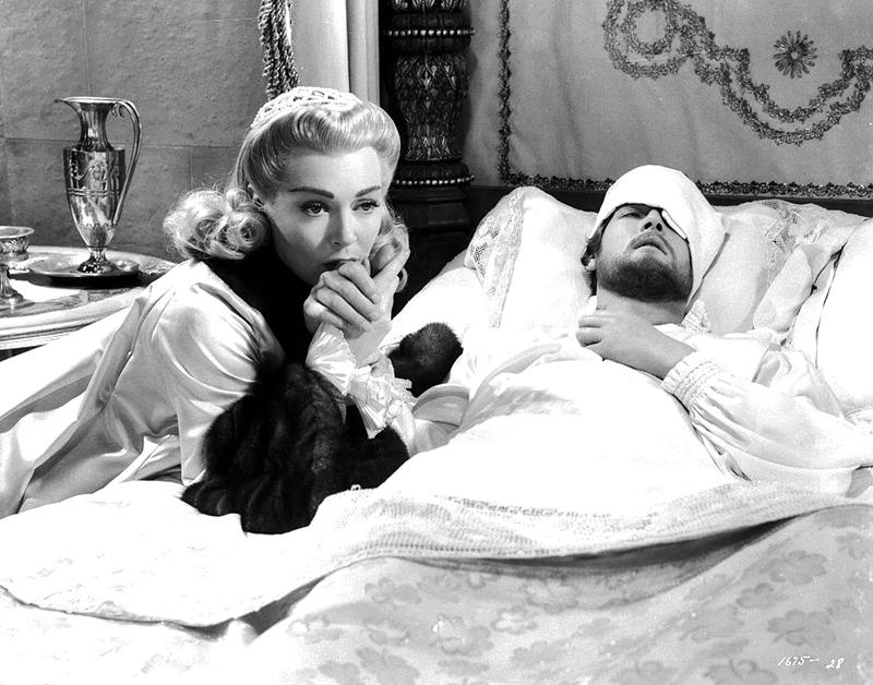 Lana Turner et Roger Moore dans DIANE (Diane de Poitiers) réalisé par David Miller (1956)