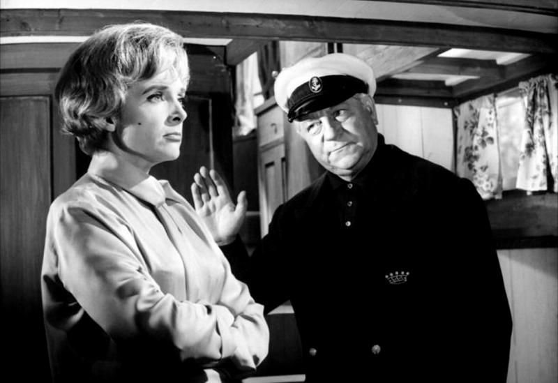 Micheline Presle et Jean Gabin dans Le Baron de l'écluse (Jean Delannoy, 1960)