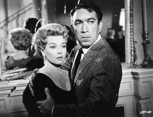 Anthony Quinn et Lana Turner dans PORTRAIT IN BLACK (Meurtre sans faire-part) réalisé en 1960 par Michael Gordon