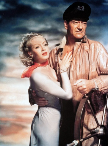 Lana Turner et John Wayne dans The SEA CHASE(Le Renard des océans) Dde John Farrow (1955)