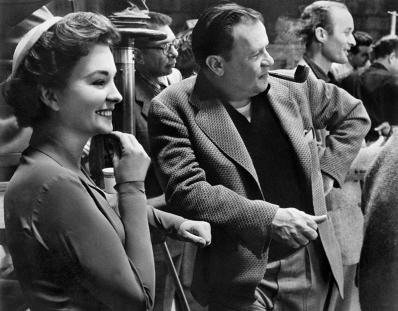 ON SET - GUYS AND DOLLS (Blanches colombes et vilains messieurs) - Joseph L. Mankiewicz et Jean Simmons
