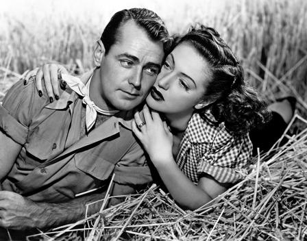 Alan Ladd et Dorothy Lamour dans WILD HARVEST (Les Corsaires de la terre, 1947) réalisé par Tay Garnett. Produxtion : Paramount Pictures