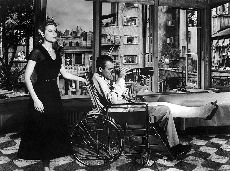 James Stewart - rear window - & Grace Kelly