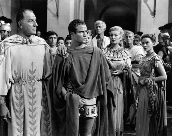 JULIUS CAESAR (Jules César) - Joseph L. Mankiewicz, d'après la pièce de William Shakespeare, sorti en 1953) - Marlon Brando, James Mason, John Gielgud, Deborah Kerr