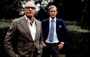SLEUTH (Le Limier) - Joseph L. Mankiewicz adapté de la pièce d'Anthony Shaffer (aussi scénariste du film), (1972) - Laurence Olivier, Michael Caine