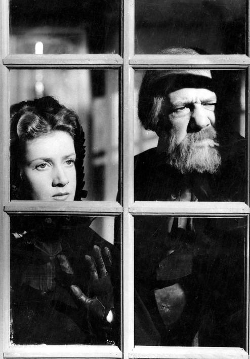 Blanchette Brunoy et Michel Simon dans AU BONHEUR DES DAMES d'André Cayatte (1943)