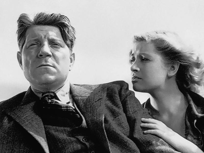 Jean Gabin et Blanchette Brunoy dans LA BÊTE HUMAINE de Jean Renoir (1938)