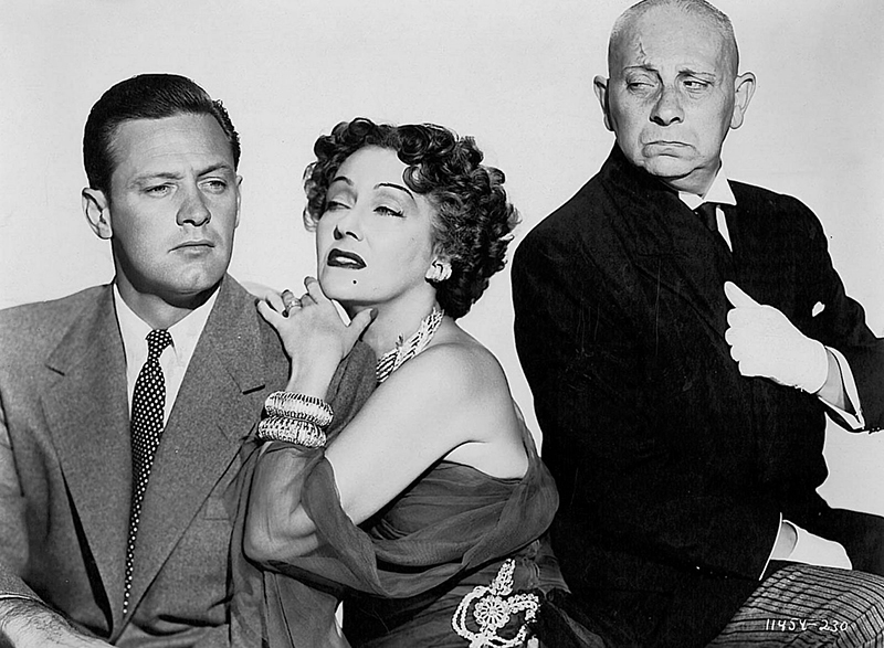 SUNSET BOULEVARD (Boulevard du crépuscule) - Billy Wilder (1950) avec William Holden, Gloria Swanson, Erich von Stroheim